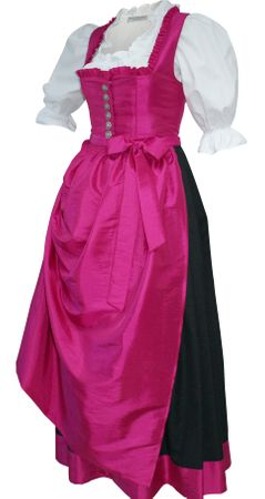 Dirndl Festtracht Trachten-Kleid Trachtenkleid Dirndlkleid Ballkleid pink rosa – Bild 1