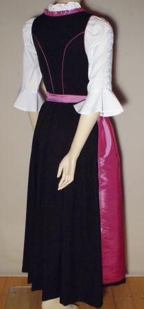 Dirndl Festtracht Trachten-Kleid Trachtenkleid Dirndlkleid schwarz fuchsia rosa – Bild 5