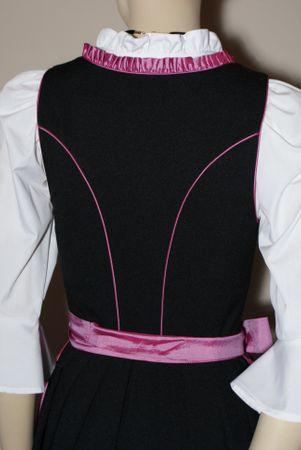 Dirndl Festtracht Trachten-Kleid Trachtenkleid Dirndlkleid schwarz fuchsia rosa – Bild 7