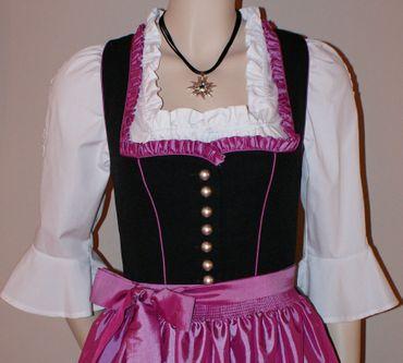 Dirndl Festtracht Trachten-Kleid Trachtenkleid Dirndlkleid schwarz fuchsia rosa – Bild 8