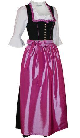 Dirndl Festtracht Trachten-Kleid Trachtenkleid Dirndlkleid schwarz fuchsia rosa – Bild 1