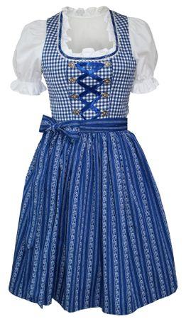 Dirndl-Kleid Baumwolle Trachtenkleid Dirndlkleid Baumwolldirndl Karo blau