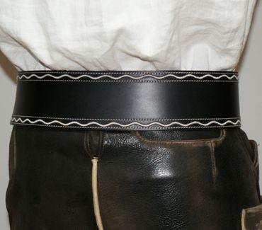 Ranzen schwarz u. braun Trachtenranzen Gürtel Federkiel-Optik Trachtengürtel neu – Bild 10