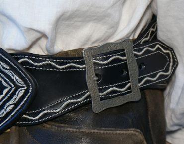 Ranzen schwarz u. braun Trachtenranzen Gürtel Federkiel-Optik Trachtengürtel neu – Bild 6