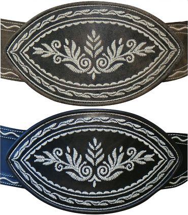 Ranzen schwarz u. braun Trachtenranzen Gürtel Federkiel-Optik Trachtengürtel neu – Bild 1