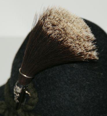Gamsbart mit Hülse ohne Trachten-Hut Trachtenhut Jagd Jäger Gemse Gams Gämse – Bild 3