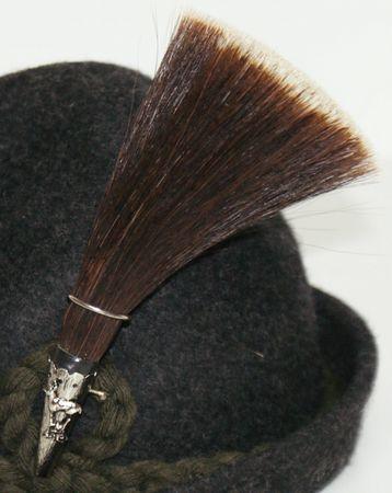 Gamsbart mit Hülse ohne Trachten-Hut Trachtenhut Jagd Jäger Gemse Gams Gämse – Bild 5