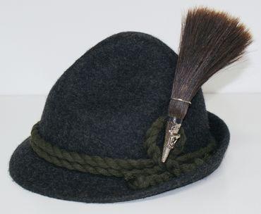 Gamsbart mit Hülse ohne Trachten-Hut Trachtenhut Jagd Jäger Gemse Gams Gämse – Bild 2