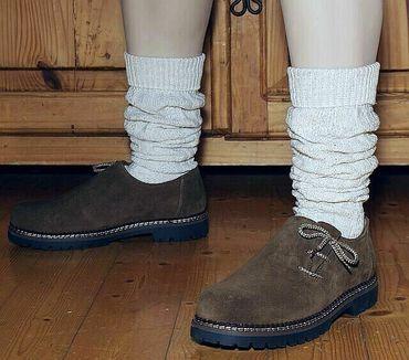 Trachtensocken 39-48 Kniebundstrümpfe f. Lederhose Strümpfe Socken Stutzen beige – Bild 2