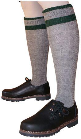 Trachtensocken 39-48 Kniebundstrümpfe f. Lederhose Strümpfe Socken Stutzen grau – Bild 2