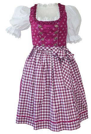 Dirndl Kleid Trachtenkleid Dirndlkleid Baumwolldirndl pink fuchsia waschbar – Bild 1