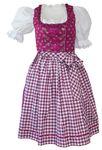 Dirndl Kleid Trachtenkleid Dirndlkleid Baumwolldirndl pink fuchsia waschbar