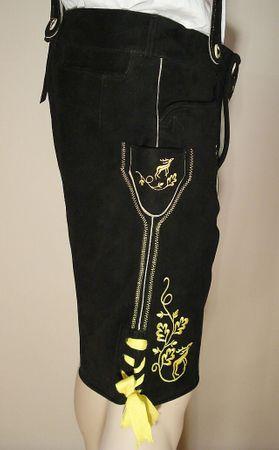 Gr.56 Trachten-Plattlerhose Lederhose Miesbacher Trachtenlederhose kurz schwarz – Bild 7