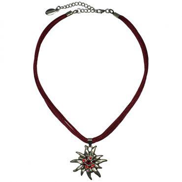 Trachtenkette Dirndl Edelweiß edle Halskette Trachten Kette Swarovski-Elements – Bild 7