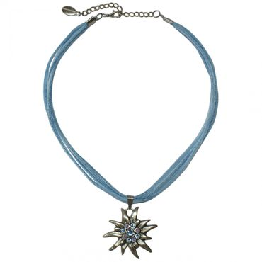 Trachtenkette Dirndl Edelweiß edle Halskette Trachten Kette Swarovski-Elements – Bild 3