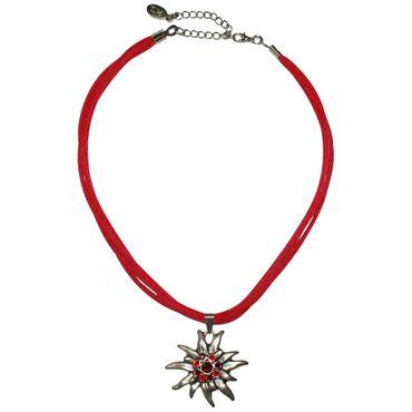 Trachtenkette Dirndl Edelweiß edle Halskette Trachten Kette Swarovski-Elements – Bild 4