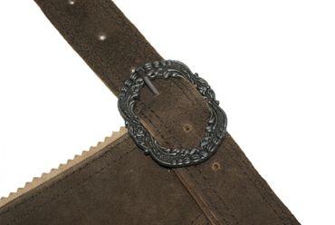 Hosenträger Lederhosenträger Leder Trachten-Träger Lederhose braun Stegträger – Bild 5