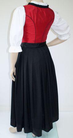 Fest-Dirndl Festtracht Trachten-Kleid Trachtenkleid Dirndlkleid Ballkleid rot – Bild 2