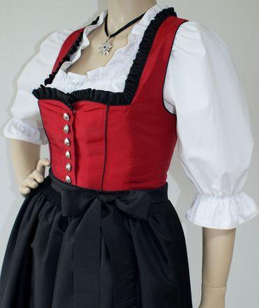 Fest-Dirndl Festtracht Trachten-Kleid Trachtenkleid Dirndlkleid Ballkleid rot – Bild 8