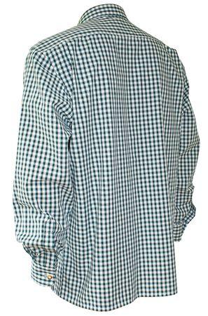 Trachtenhemd Karo-Hemd Trachten-Pfoadl Karohemd grün kariert Herrenhemd langarm – Bild 2