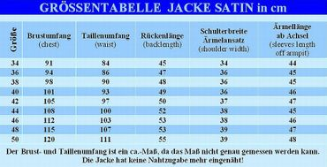 Dirndljacke Dirndl-Jacke Spenzer Bolero Trachtenjacke Blazer Satin schwarz – Bild 3