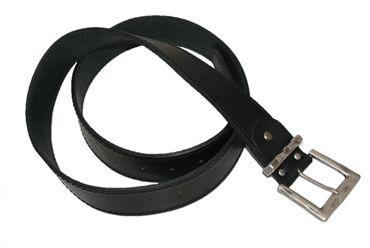 Trachtengürtel Gürtel f. Trachten-Lederhose u. Biker Ledergürtel Leder schwarz – Bild 1