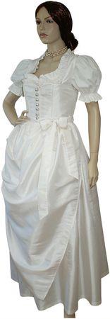 Hochzeitskleid Braut-Dirndl Brautkleid Hochzeit Brautdirndl creme + Bluse – Bild 8