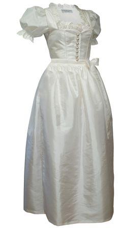 Hochzeitskleid Braut-Dirndl Brautkleid Hochzeit Brautdirndl creme + Bluse