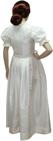 Hochzeitskleid Dirndl Brautkleid Bluse Brautdirndl Braut-Dirndl Hochzeit creme – Bild 4