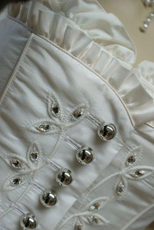 Hochzeitskleid Dirndl Brautkleid Bluse Brautdirndl Braut-Dirndl Hochzeit creme – Bild 2