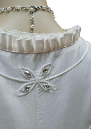 Hochzeitskleid Dirndl Brautkleid Bluse Brautdirndl Braut-Dirndl Hochzeit creme – Bild 8