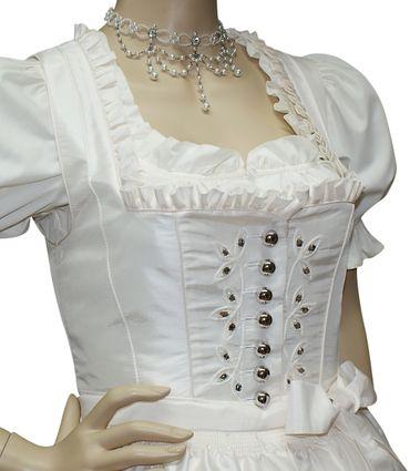 Hochzeitskleid Dirndl Brautkleid Bluse Brautdirndl Braut-Dirndl Hochzeit creme – Bild 7