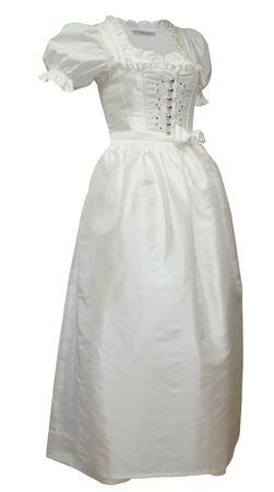 Hochzeitskleid Dirndl Brautkleid Bluse Brautdirndl Braut-Dirndl Hochzeit creme – Bild 1