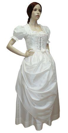 Hochzeitskleid Dirndl Brautkleid Bluse Brautdirndl Braut-Dirndl Hochzeit creme – Bild 10