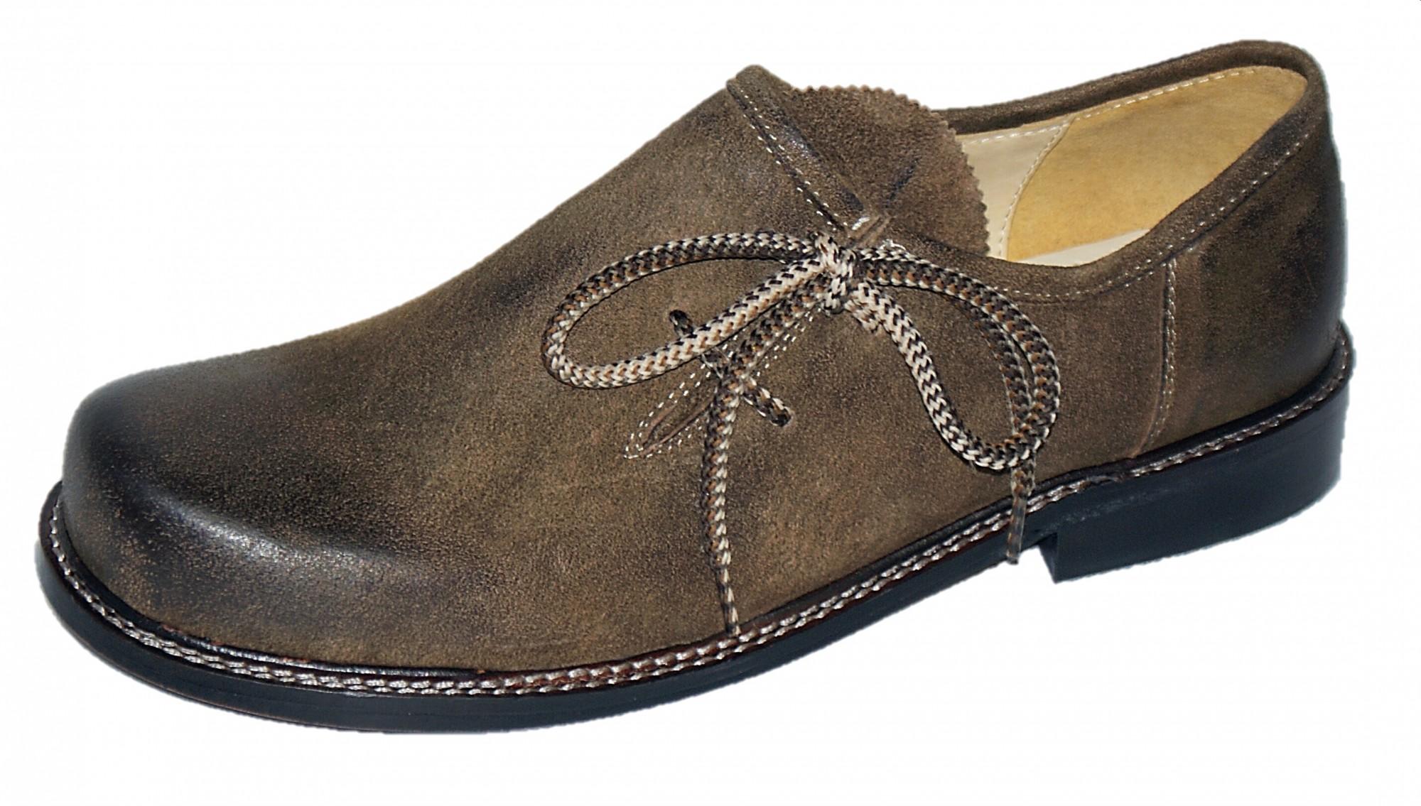Trachtenschuhe Haferlschuhe Trachten Schuhe Leder braun Ledersohle Schnürschuhe