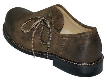 Trachtenschuhe Haferlschuhe Trachten-Schuhe Leder braun Ledersohle Schnürschuhe – Bild 4