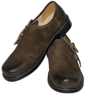 Trachtenschuhe Haferlschuhe Trachten-Schuhe Leder braun Ledersohle Schnürschuhe – Bild 2