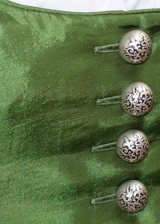 Fest-Dirndl Festtracht Trachten-Kleid Trachtenkleid Dirndlkleid Taft hellgrün – Bild 6