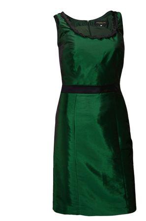 Trachtenkleid Abendkleid Dirndlkleid Dirndl Etuikleid Taft Ball-Kleid dunkelgrün – Bild 1