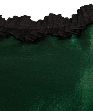 Trachtenkleid Abendkleid Dirndlkleid Dirndl Etuikleid Taft Ball-Kleid dunkelgrün – Bild 5