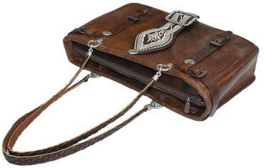 Trachtentasche Metzgertasche Handtasche Federkiel-Optik Sattel-Tasche anno 1945 – Bild 8
