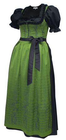 Dirndl Balkonett Festtracht Kleid Trachtenkleid Dirndlkleid Ballkleid Fest grün