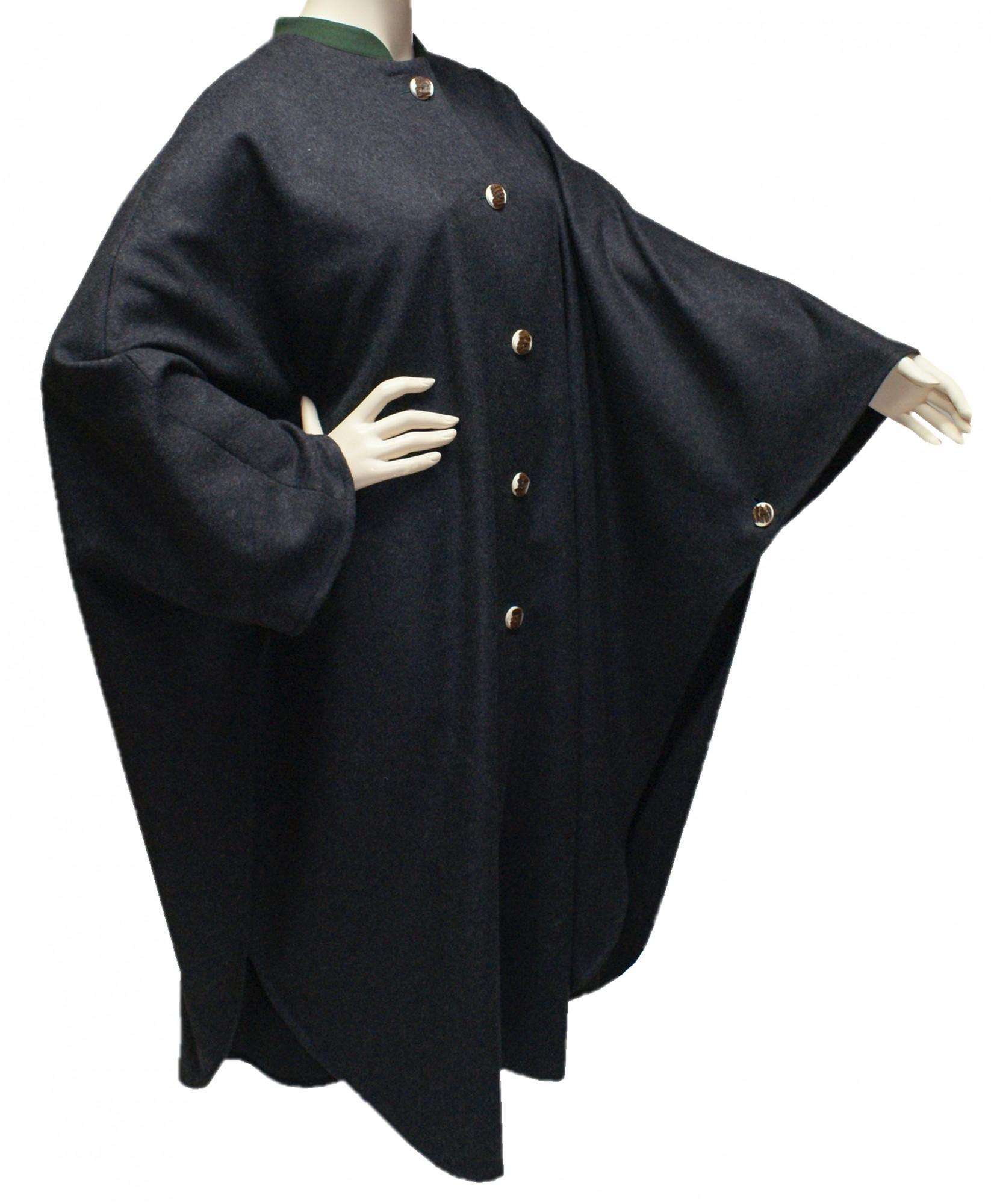Wetterfleck grau Loden Umhang Cape Poncho Trachtenmantel Pellerine Damen Mantel