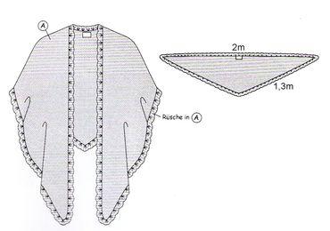 Poncho Cape Trachtentuch Umhang Stola Schultertuch Tuch Strickponcho Tracht – Bild 18