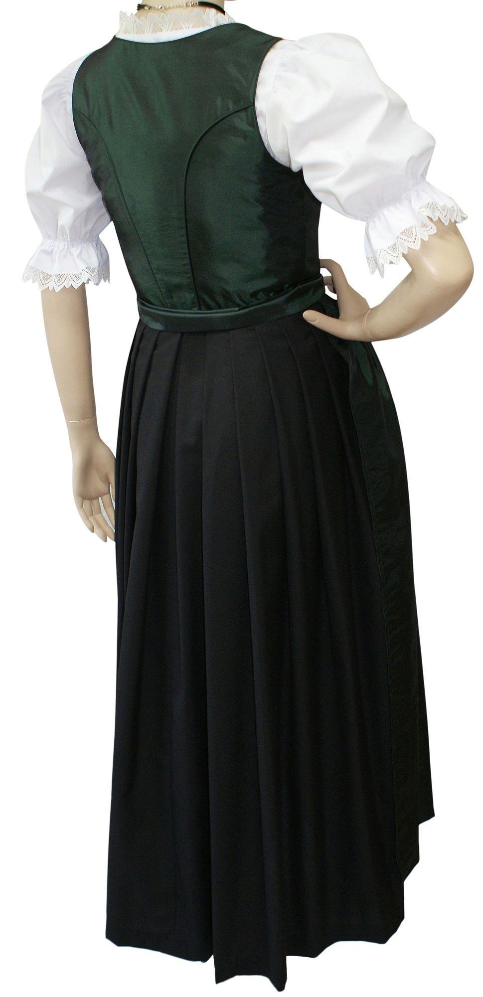 Dirndl Festtracht Trachten-Kleid Trachtenkleid Dirndlkleid Ball Fest Taft  grün