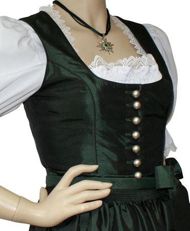 Dirndl Festtracht Trachten-Kleid Trachtenkleid Dirndlkleid Ball Fest Taft grün – Bild 4