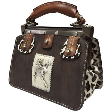 Trachtentasche Handtasche Trachten-Tasche versilbert Swarovski-Elements Unikat! – Bild 1