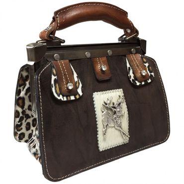 Trachtentasche Handtasche Trachten-Tasche versilbert Swarovski-Elements Unikat! – Bild 9