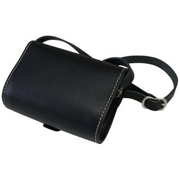 Trachtentasche Dirndl-Handtasche Trachten-Tasche Ledertasche schwarz, versilbert – Bild 5