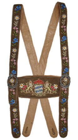 Hosenträger Bayernträger Lederhose Werdenfelser-Träger Lederhosenträger Leder – Bild 2